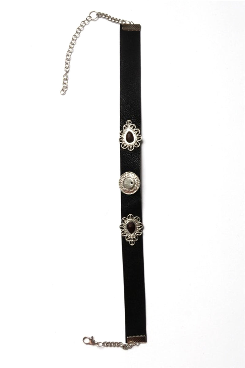 Three Times A Charm Choker Necklace