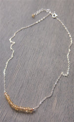 November Citrine Birthstone Necklace