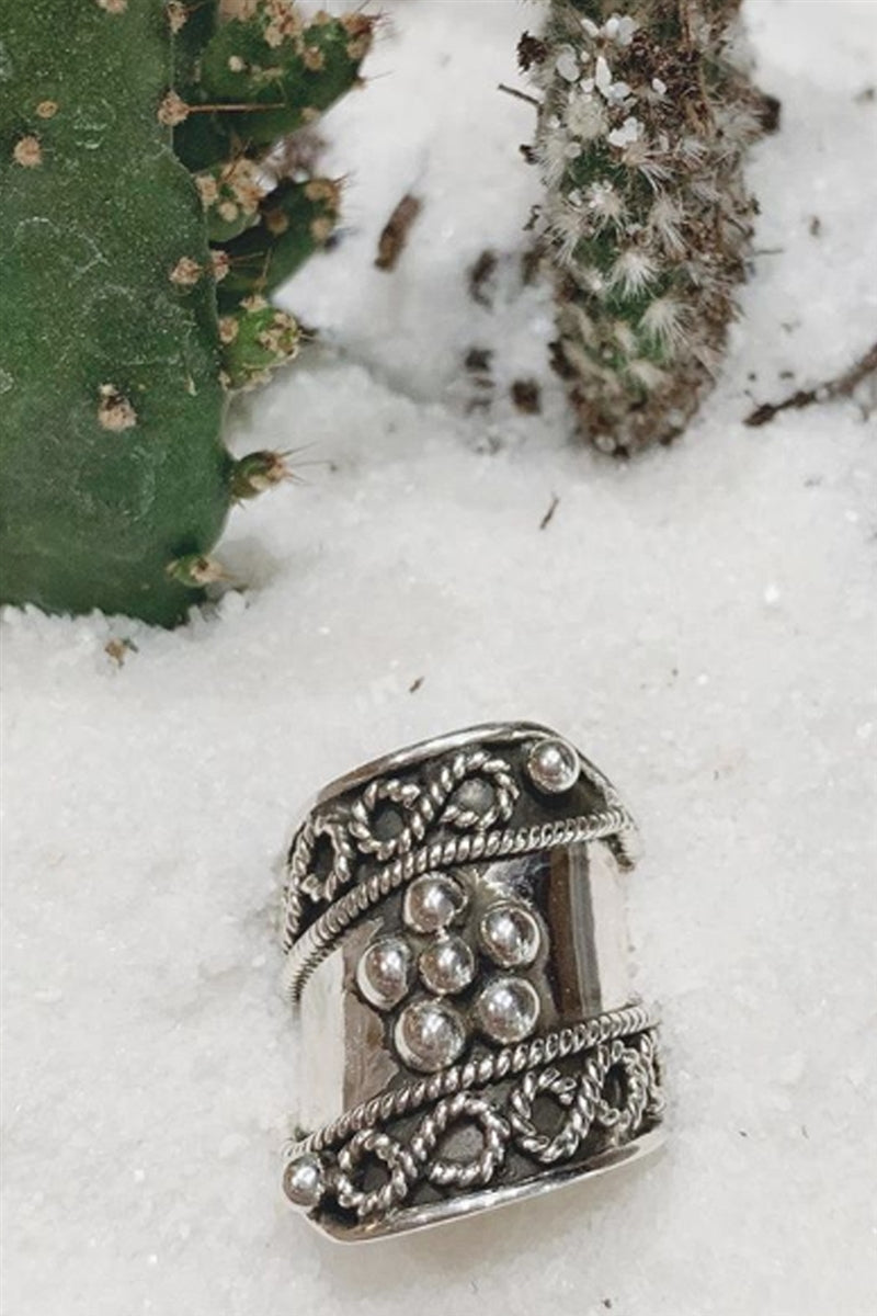 Wild Child Sterling Silver Statement Ring