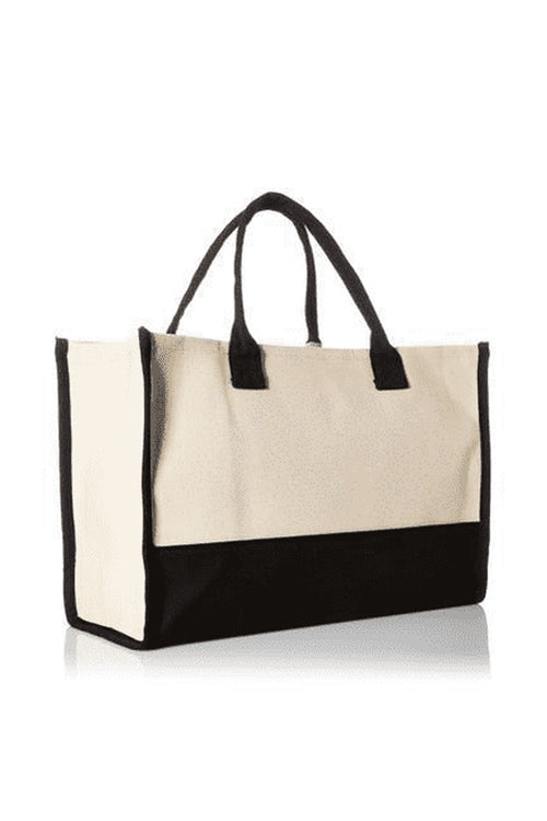 Mud Pie Canvas Initial Tote - R