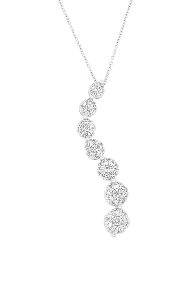 Smooth Moves Pave Crystal Pendant Necklace