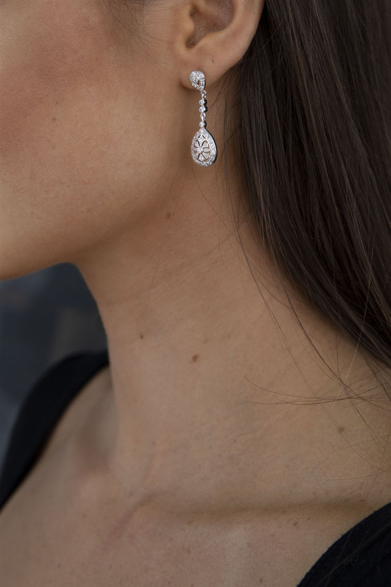 Regal Crystal Drop Earrings