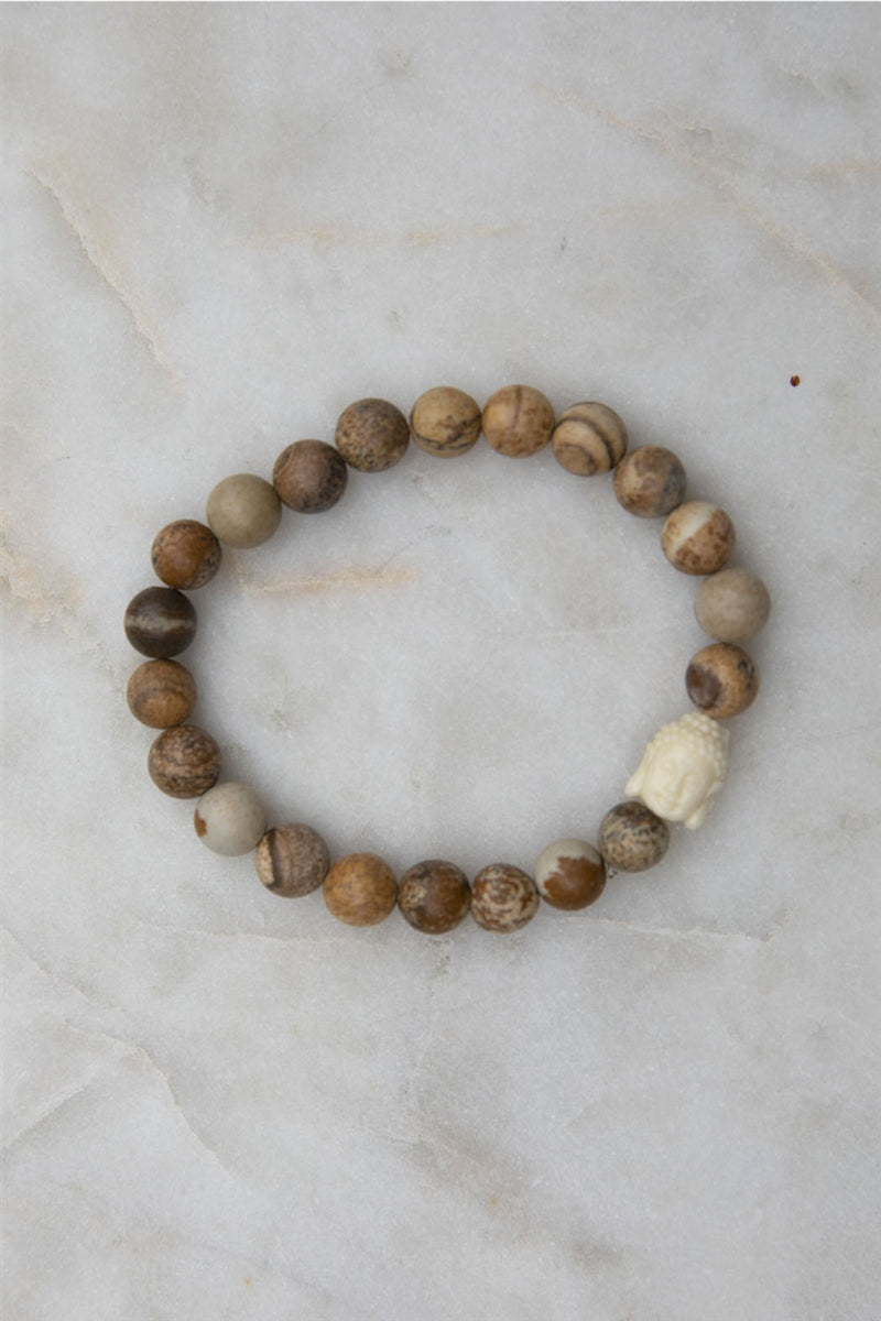 Truth Buddha Bracelet - Picture Jasper