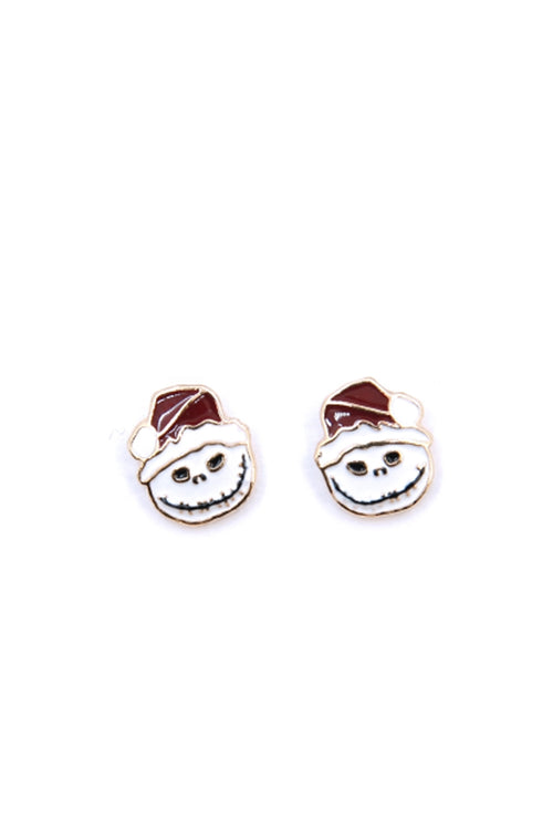 Nightmare Before Christmas Jack Skeleton Stud Earrings