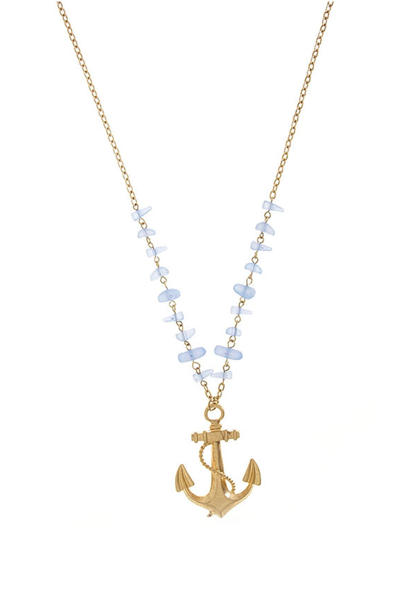 Sunken Ship Anchor Pendant Necklace