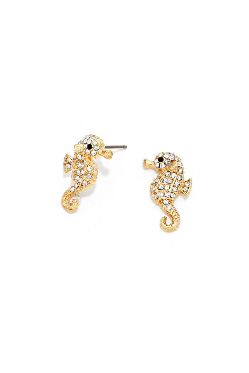 Wild Sea Horse Stud Earrings