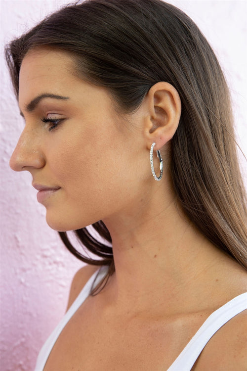 Born To Sparkle Hoop Earrings