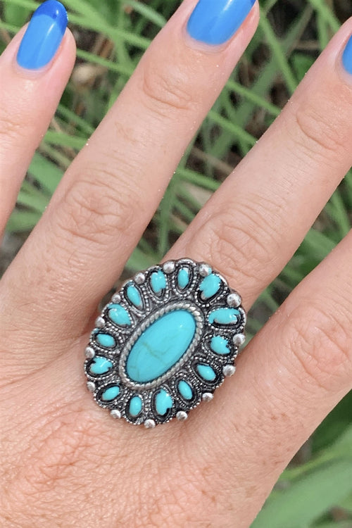 Antique Oval Turquoise Ring