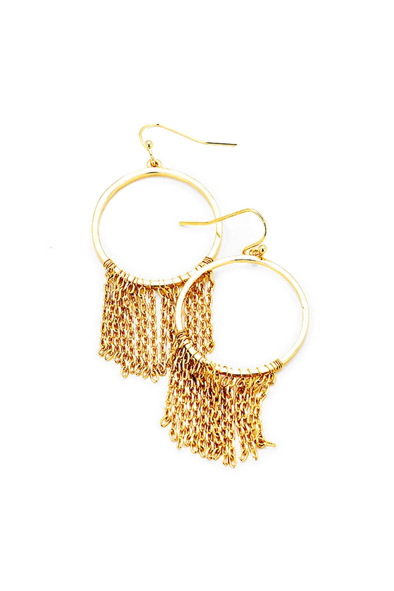 Dripping In Chains Tassel Hoop Earrings