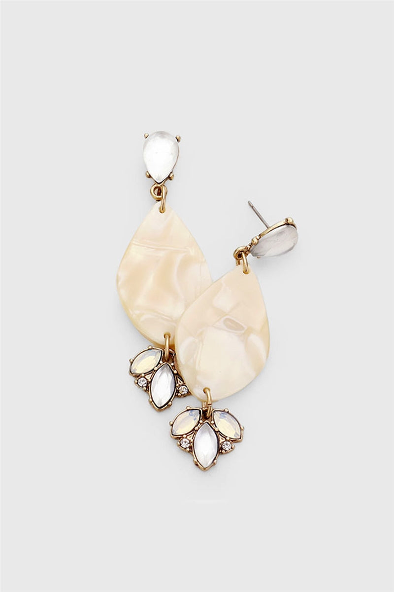 Shine Like Shell Statement Earrings