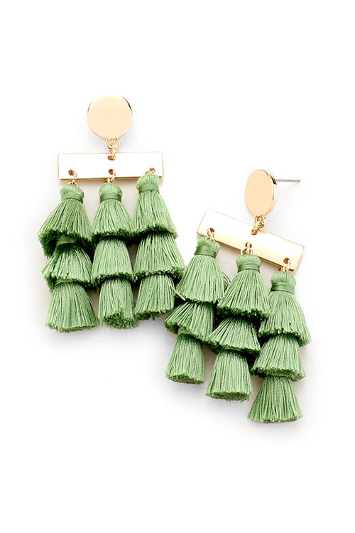 Move & Shake Tassel Statement Earrings
