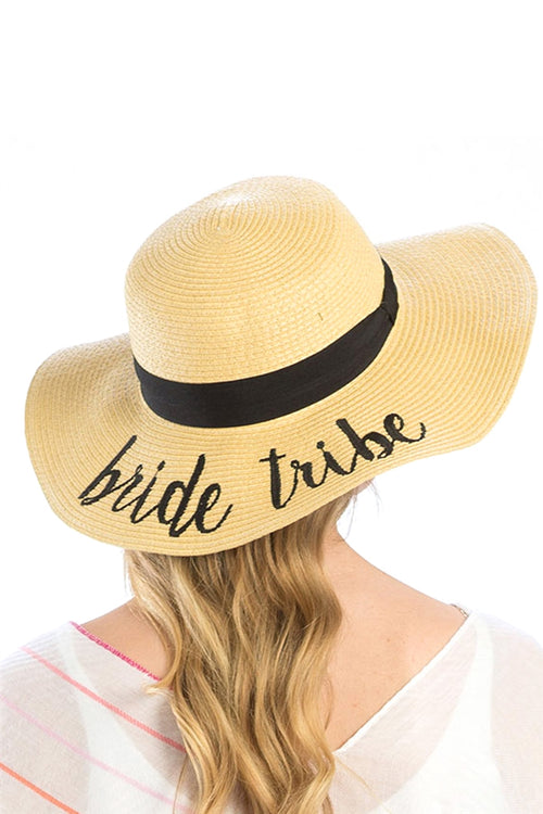 Bride Tribe Embroidered Floppy Hat