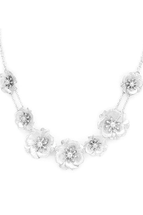 Hey Bud Floral Statement Necklace