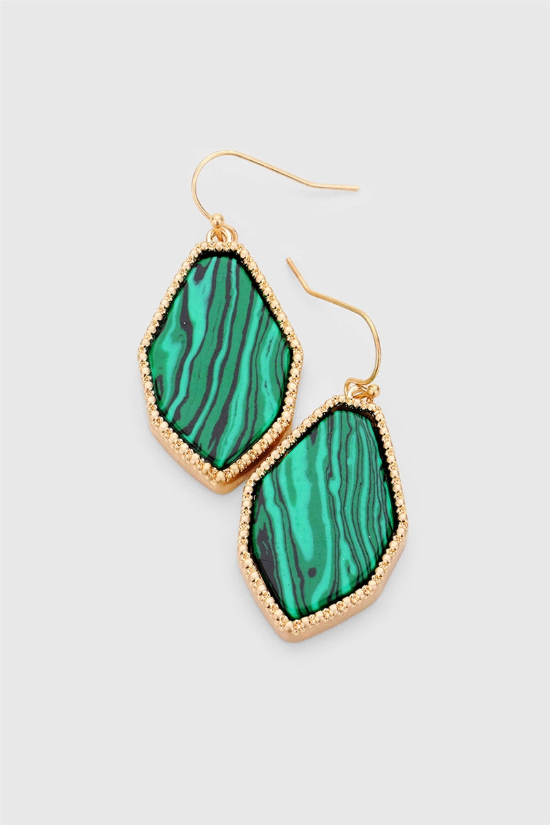 Green With Envy Malachite Earrings