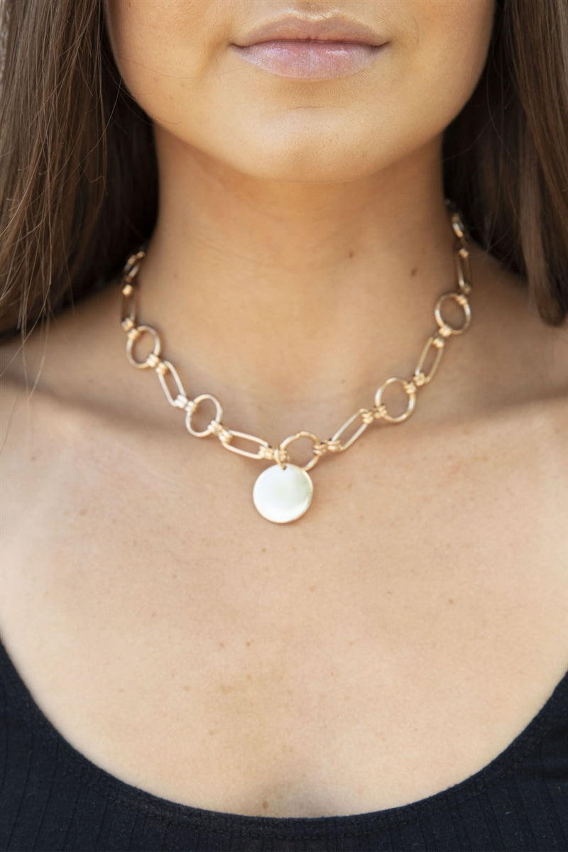 Round Down Statement Necklace