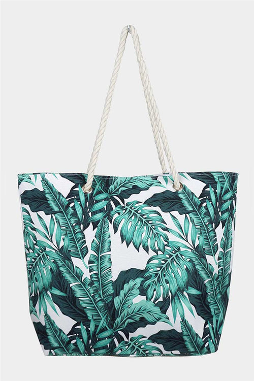 Another Day In Paradise Tropical Leaf Tote Bag