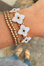 All Eyes On Clover Flower Bracelet