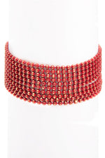 Red Layered Bracelet