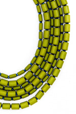Green Goddess Beaded Layered Necklace