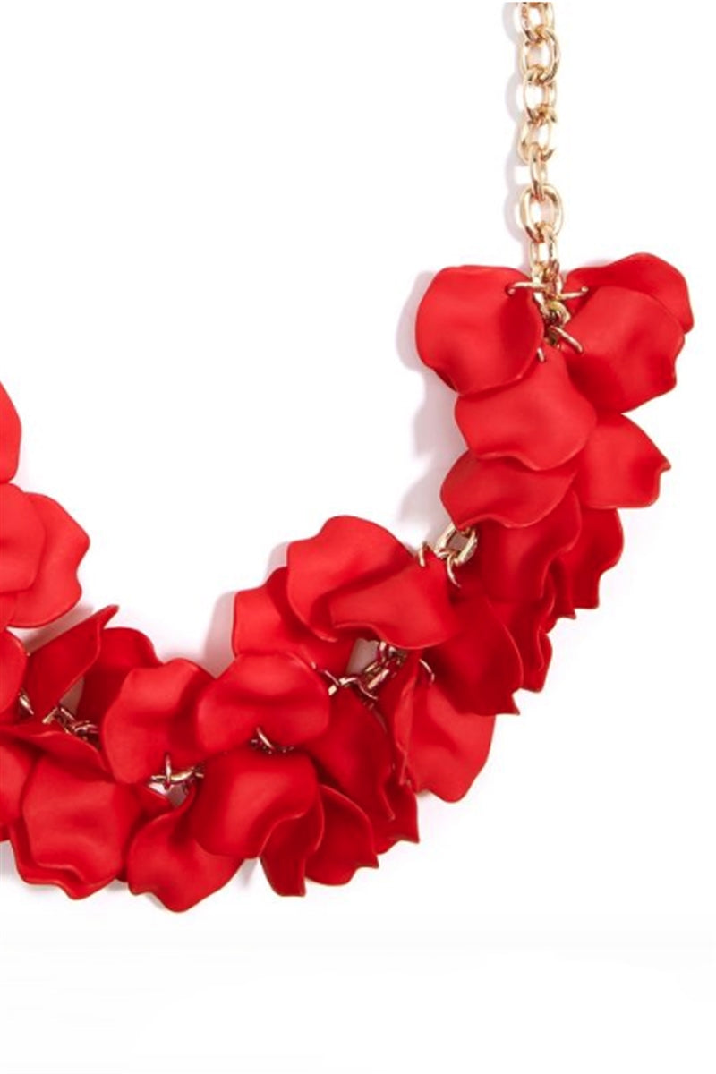 Petal To The Metal Statement Necklace