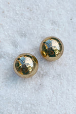 Gold Ball Stud Earrings