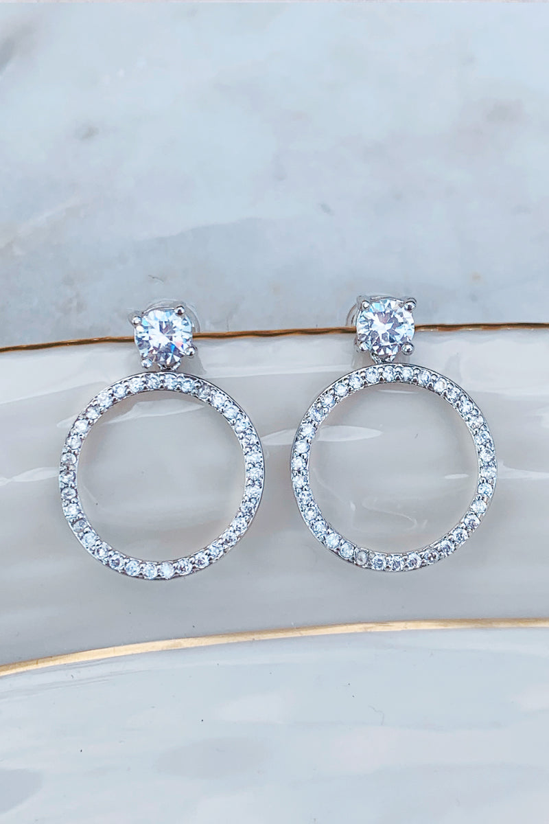 Prestigious Crystal Hoop Earrings