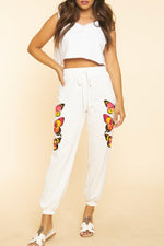 Metamorphosis Butterfly Jogger Sweatpants Black