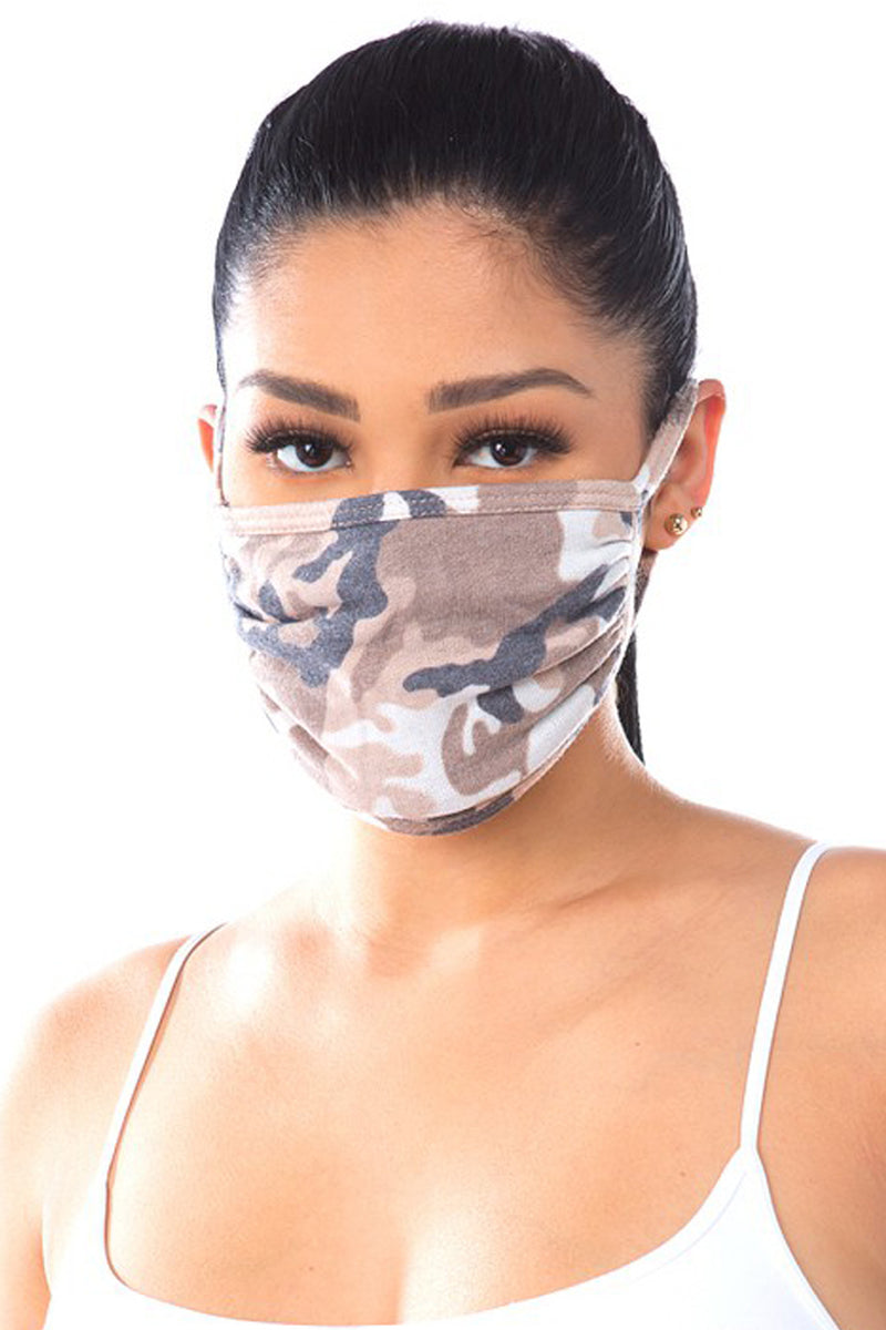Incognito Beige Camouflage Face Mask