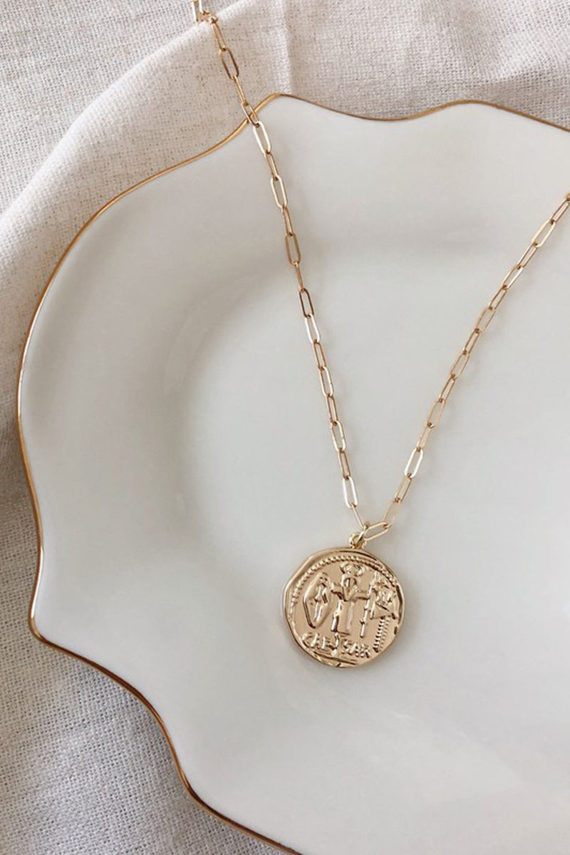 When In Rome Coin Pendant Necklace