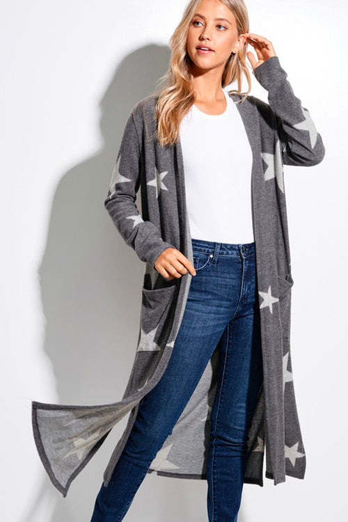 Star Of The Show Long Cardigan