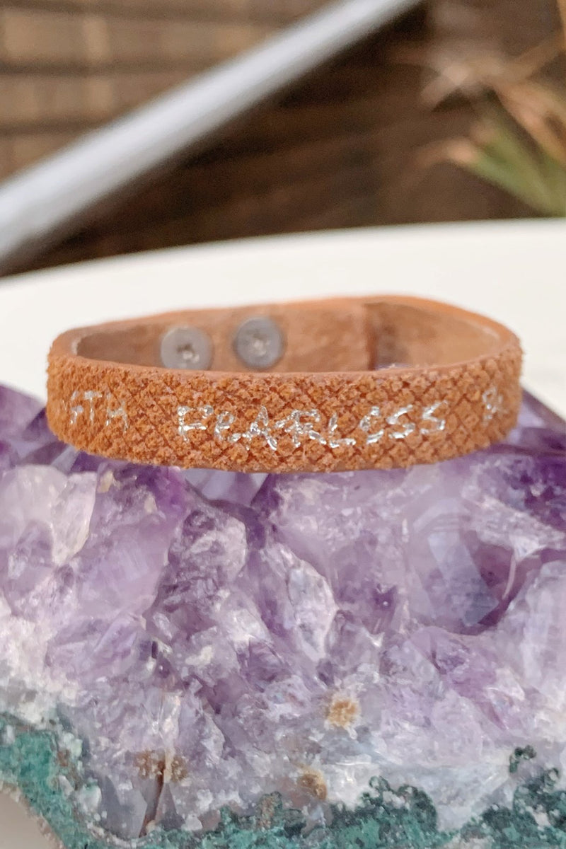 Good Work(s) Believe Single Leather Bracelet