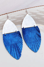 Feather Weather Leather Statement Earrings