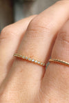 Gold Thin CZ Ring