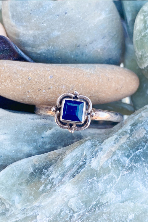 Heart Of The Ocean Square Sapphire Ring