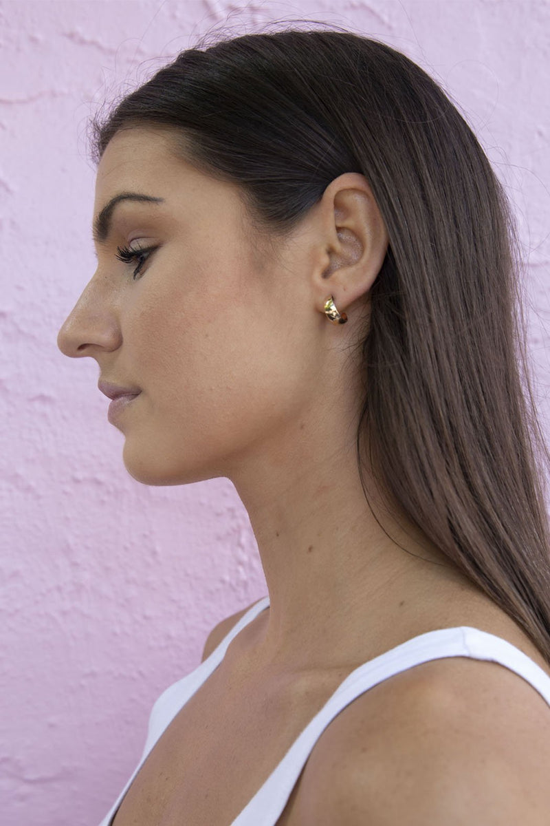 Mini Thick Gold Huggie Hoop Earrings