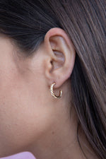 Small Gold Twisted Hoop Earrings