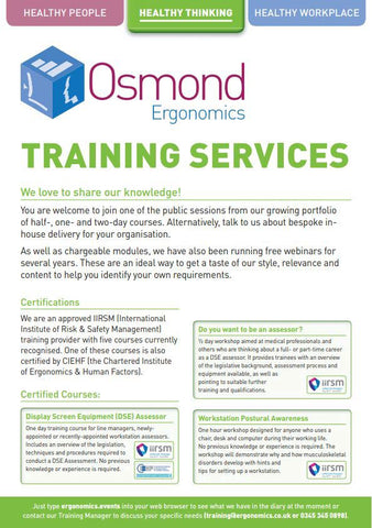 Training Services Leaflet