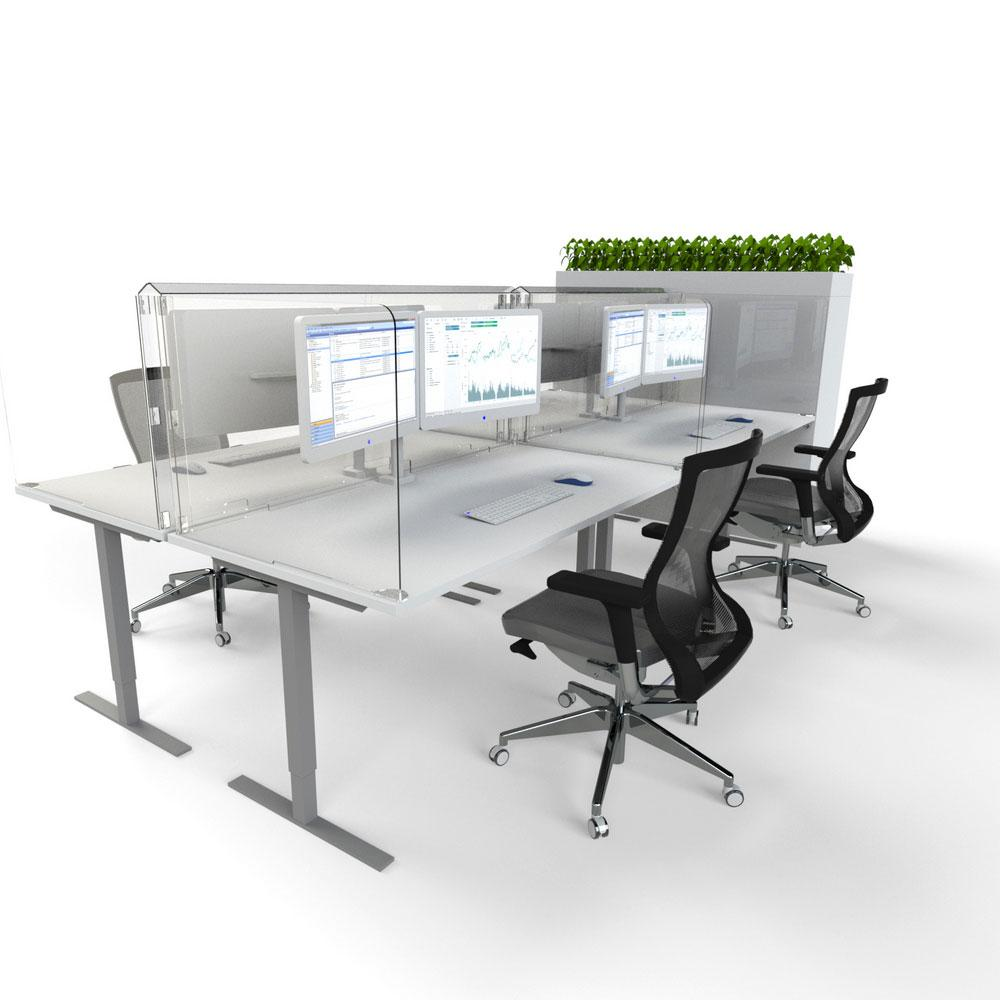 Desk-Mounted Workstation Protection Screen