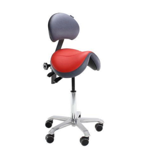 Score Jumper Saddle Stool with Lumbar Support