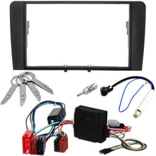 Lade das Bild in den Galerie-Viewer, Radioblende Set für Audi A3 8P 8PA ab 2003 Doppel-DIN mit CAN-Bus - wm-outlet-store