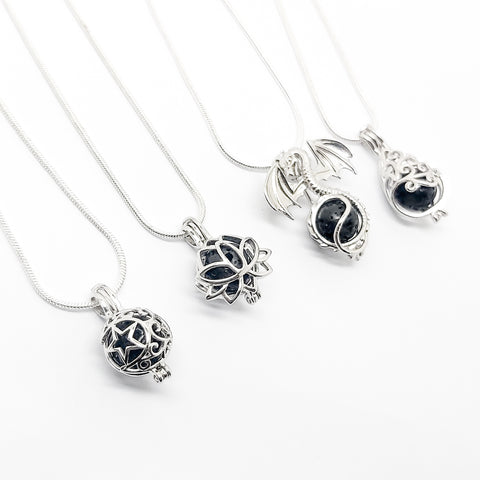 Sterling Silver Necklace Diffusers