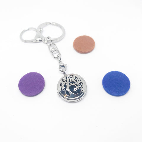 Keyring Diffuser Locket with Colour Pads - Various Scents