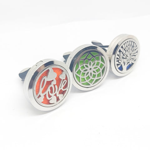 Car Diffuser Locket Vent Clip with Colour Pads - Various Scents