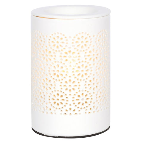 Circle Pattern Cut Out Electric Wax Melt Warmer / Oil Burner