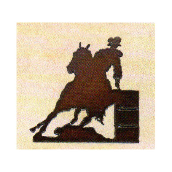 Barrel Racer Metal Cutout Magnet