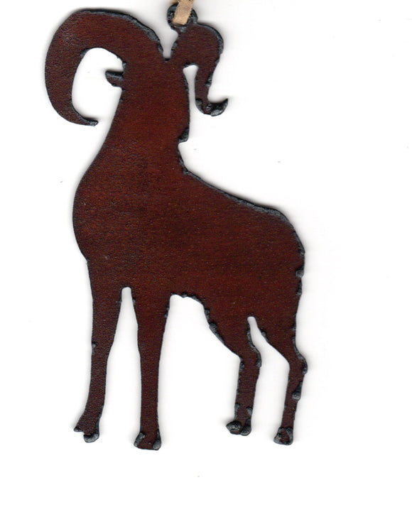 Big Horn Sheep Metal Cutout Ornament