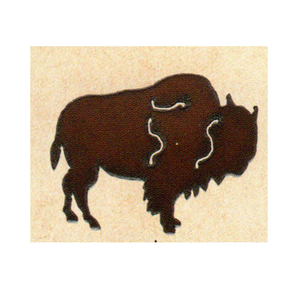 Buffalo Metal Cutout Ornament