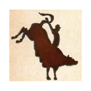 Bull Rider Metal Cutout Ornament