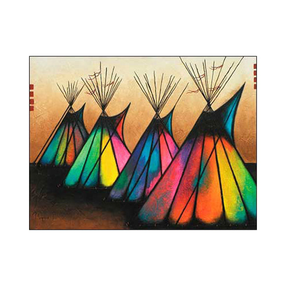 Colorful Teepees  Artist: Micqaela Jones