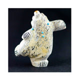 Singing Dancing Bear with Turquoise Necklace by Claudia Peina, Native American Artist